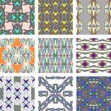 Reeks van naadloos patroon met abstract ornament Royalty-vrije Stock Foto