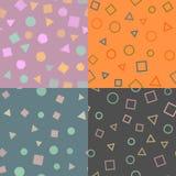 Reeks van Naadloos patroon met geometrische cijfers Zie mijn andere werken in portefeuille Vector vector illustratie
