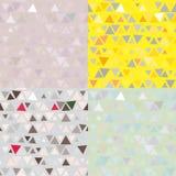 Reeks van Naadloos patroon 4 van driehoeken Vector Stock Afbeeldingen