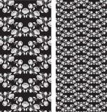Reeks van naadloos rozenpatroon, malplaatjes Stock Foto's