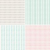Reeks van naadloze geometrische patern Stock Afbeelding