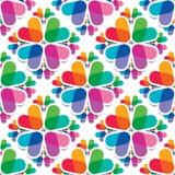 Reeks van 4 naadloze patronen Stock Afbeeldingen