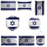 Reeks van nationale vlag royalty-vrije illustratie