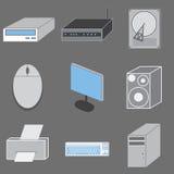 Reeks van negen computer-tematic pictogrammen. royalty-vrije illustratie