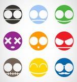 Reeks van Emoticons stock illustratie