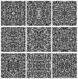 Reeks van Negen Naadloze Abstracte Vectoren van het Patroon Royalty-vrije Stock Afbeeldingen