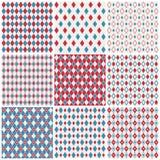 De patronen van de harlekijn Royalty-vrije Stock Afbeeldingen