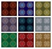 Reeks van negen patronen Royalty-vrije Stock Foto