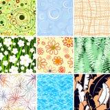 Reeks van negen texturen Royalty-vrije Stock Afbeelding