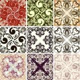 Reeks van negen texturen Royalty-vrije Stock Foto's