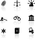De pictogrammen van de rechtvaardigheid Stock Afbeelding