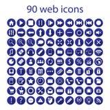 Reeks van negentig Webpictogrammen Royalty-vrije Stock Foto