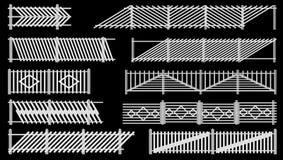 Reeks van omheining van het schermen van hout. Royalty-vrije Stock Afbeeldingen