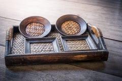 Reeks van Onderleggers voor glazen en Platemat Royalty-vrije Stock Fotografie