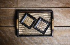 Reeks van Onderleggers voor glazen en Platemat Stock Afbeelding