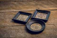 Reeks van Onderleggers voor glazen en Platemat Stock Fotografie
