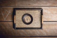 Reeks van Onderleggers voor glazen en Platemat Royalty-vrije Stock Foto's