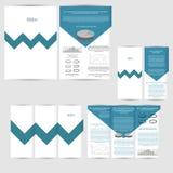 Reeks van ontwerpmalplaatje met vlieger, affiche, brochure Stock Fotografie