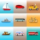 Reeks van Openbaar vervoerillustratie stock illustratie
