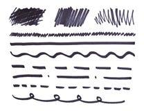 Reeks van oranje abstracte met de hand geschilderde teller vector illustratie