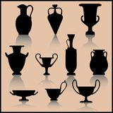 Reeks van oude keramiek royalty-vrije illustratie