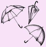 Reeks van paraplu royalty-vrije illustratie