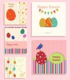 Reeks van Pasen-achtergrond stock illustratie