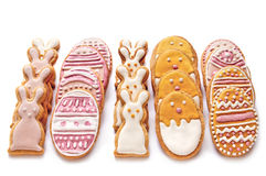 Reeks van Pasen-koekjes Royalty-vrije Stock Afbeeldingen