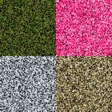 Reeks van 4 patronen van de pixelcamouflage Militair naadloos patroon abstracte vectorillustratie Stock Afbeelding