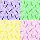 Reeks-van-patroon-met-kaarsen Royalty-vrije Stock Afbeelding