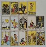 Reeks van pentacles tarotkaart Royalty-vrije Stock Foto's