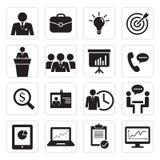 Reeks van pictogram bedrijfsbureau royalty-vrije stock afbeelding