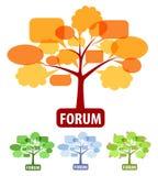 Reeks van pictogram voor forum Royalty-vrije Stock Foto