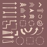 Reeks van pijlen en bestemmingen vectorontwerp vector illustratie