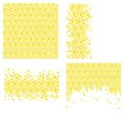 Reeks van 4 pixelmalplaatjes voor uw ontwerp Stock Foto's