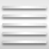 Reeks van 5 Planken Royalty-vrije Stock Afbeeldingen