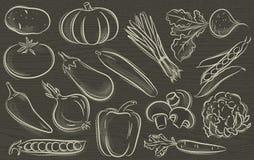 Reeks van plantaardig, vector royalty-vrije illustratie