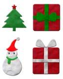 Reeks van plasticine van Kerstmis Stock Afbeelding