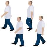 Reeks van positie persoon het lopen Stock Foto's