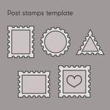 Reeks van postzegelmalplaatje Royalty-vrije Stock Foto