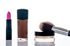 Reeks van professionele make-up Stock Fotografie