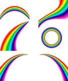 Reeks van regenboog royalty-vrije illustratie