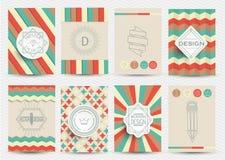 Reeks van Retro Logotypes Royalty-vrije Stock Afbeeldingen