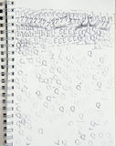 Reeks van rubberzegelpictogram op leeg document Royalty-vrije Stock Afbeeldingen