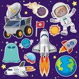 Reeks van ruimteelement stock illustratie