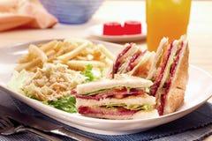 Reeks van sandwich royalty-vrije stock afbeeldingen