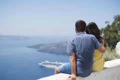 Reeks van Santorini Griekenland Royalty-vrije Stock Foto