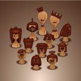 Reeks van schaak Royalty-vrije Stock Afbeelding