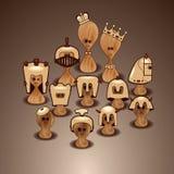 Reeks van schaak Royalty-vrije Stock Foto's