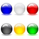 Reeks van schone glanzende bal. Abstracte achtergrond Stock Fotografie